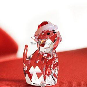 Swarovski_Christmas_cat_Santas_hat_5060448 | The Crystal Lodge