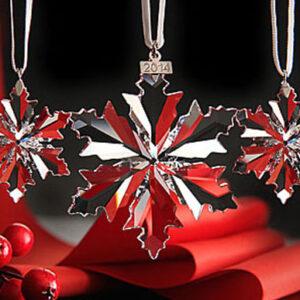 Swarovski Christmas ornaments - annual clear sets