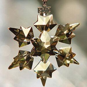 Swarovski Christmas ornaments - gold festive (all sizes including sets)