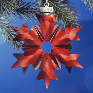 Swarovski Christmas ornaments - red holiday (all sizes)